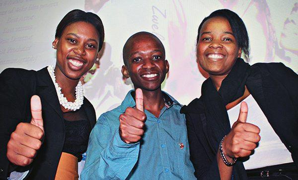 Budding ethnographic filmmakers (from left) Ms Thabile Buthelezi; Mr Nhlakanipho Ngcobo and Ms Nontobeko Sibiya.
